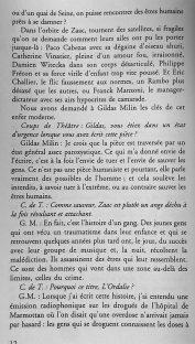 interview de Gildas Milin par Garance Hayat pour le magasine Coup de Théâtre. (3)